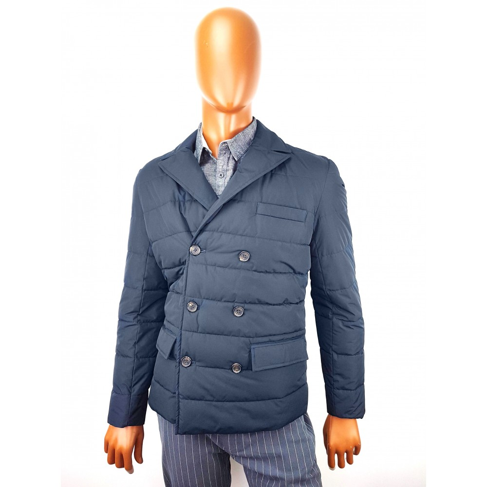 Doppelgänger BLUE PERFORMING COAT WITH BUTTONS, WATERPROOF