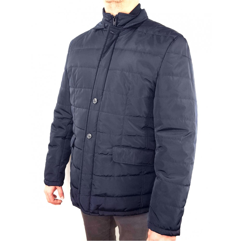 Doppelgänger BLUE JACKET WITH ZIP AND BUTTONS, WATERPROOF 27gb168