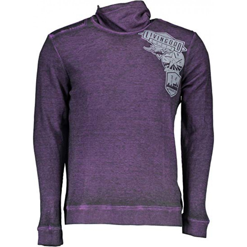 Guess men's sweater with elongated collar, dark purple color m74p43k6980