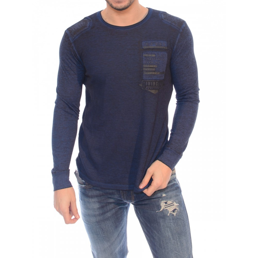 Guess men's sweater, dark blue color m74p45k6980