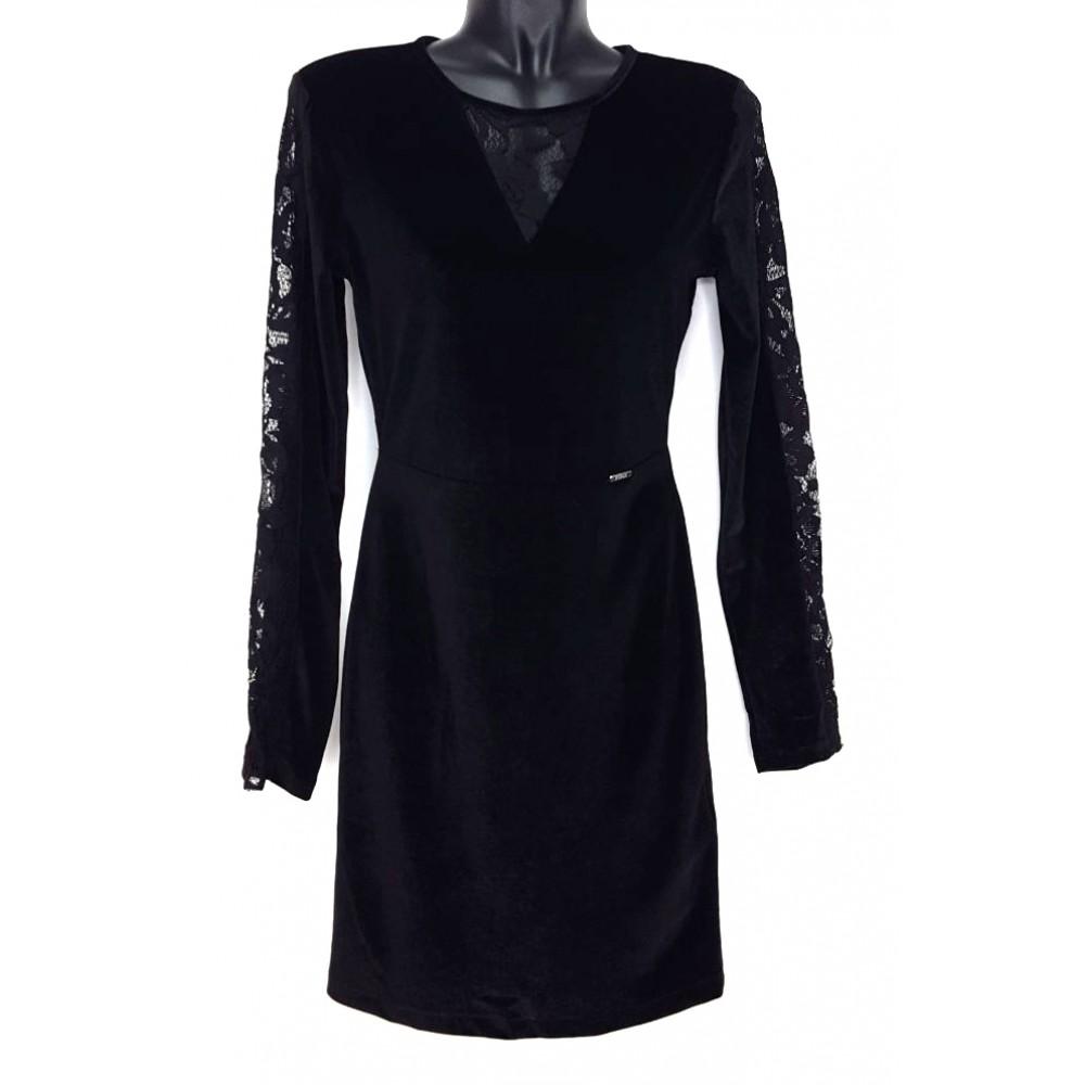 Guess women's velour dress w74k22k79k0-a996