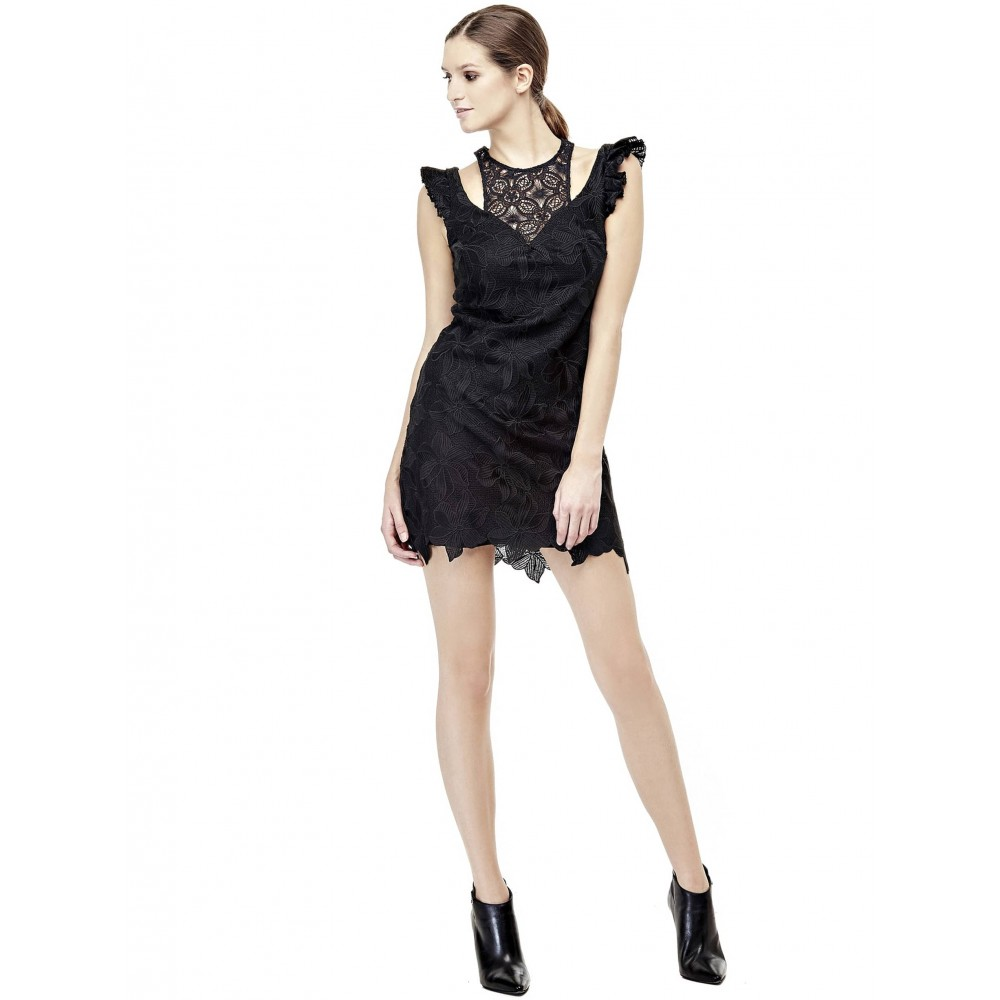 Guess women's lace dress, black color W73K49W8RJ0