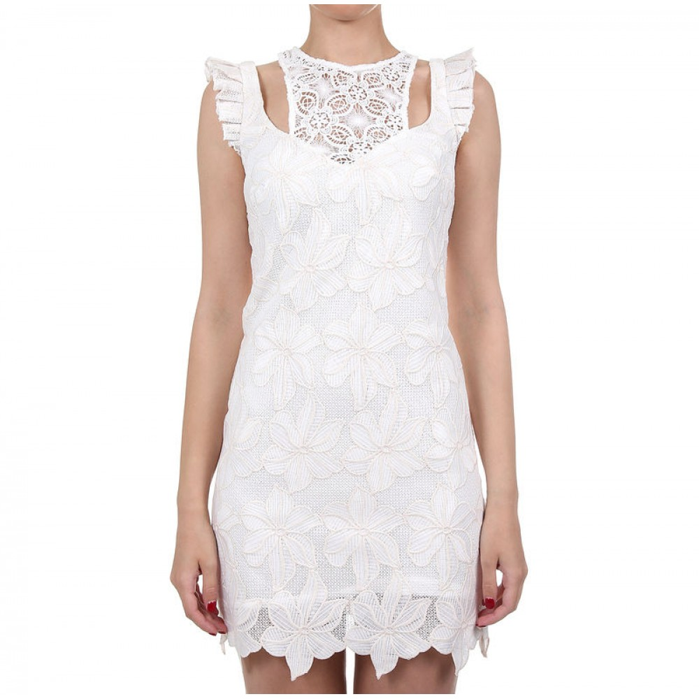 Guess women's lace dress, ivory color w73k49w8rj0