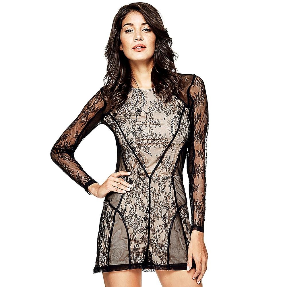 Guess women's short lace jumpsuit w73d85r6ac0