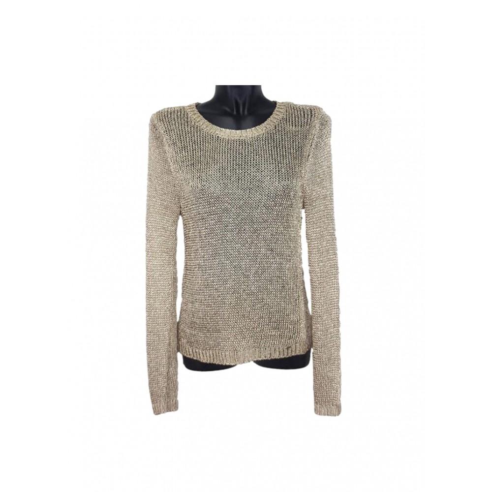 Guess women's gold metallic look sweater