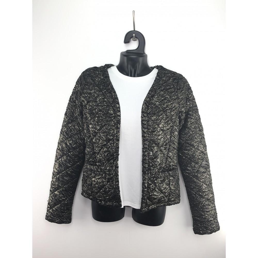 Top secret women's blazer gold/black color, glossy