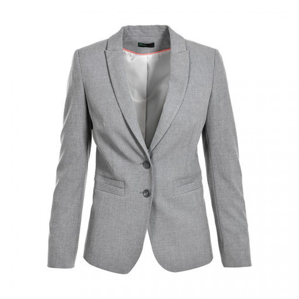 United colors of benetton ladies jacket, gray color, slim  fit