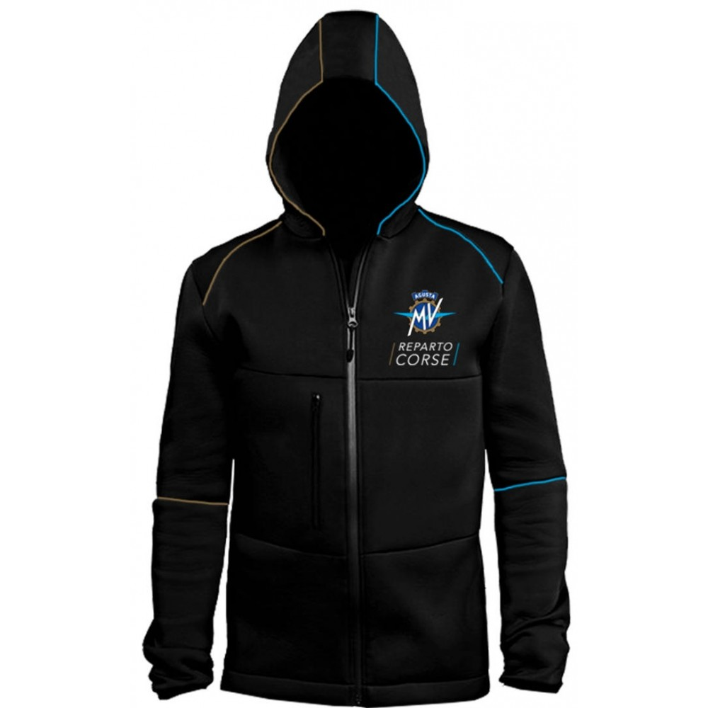 MV Agusta men's neoprene jacket MV119M102BL black