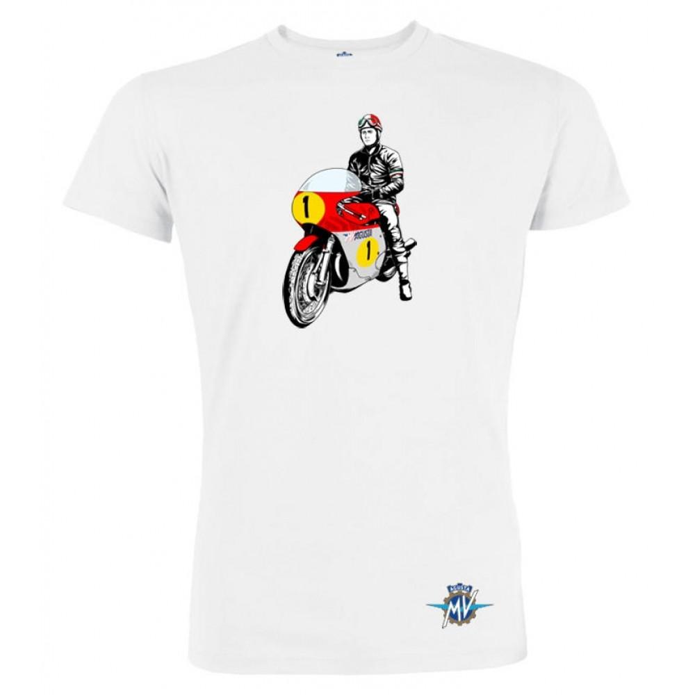 MV Agusta men's t-shirt MV119M005WH white