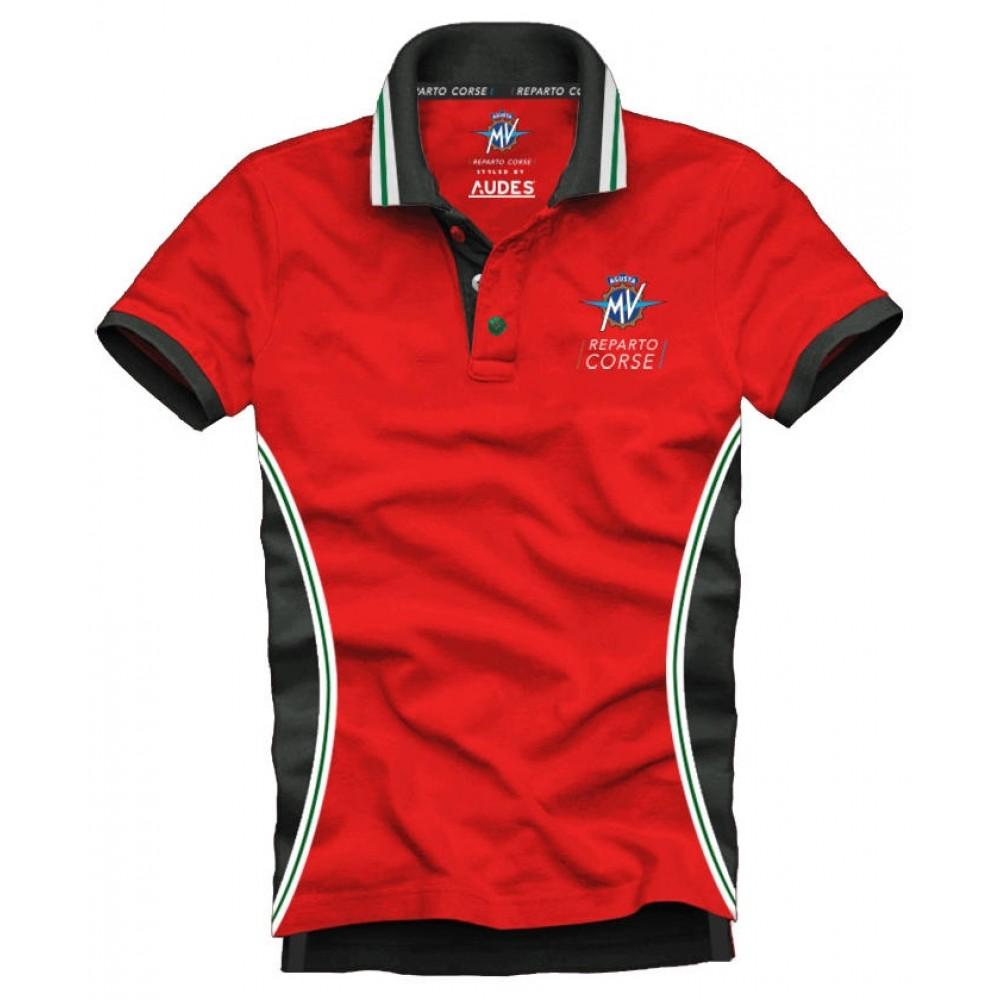 MV Agusta men's t-shirt POLO MV119M100RE red/grey