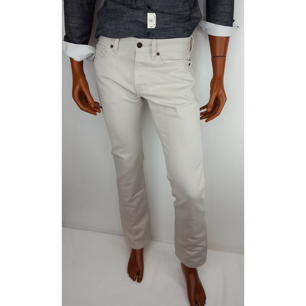 Ralph Lauren Jeans Light Grey Color Slim Fit With Low Raise And Slightly Tapered Leg