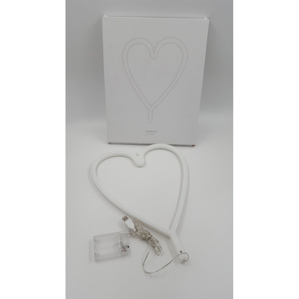 Reserved LED Heart Shape Neon Light Wall Lamp Holiday Decorations - Warm White Light USB