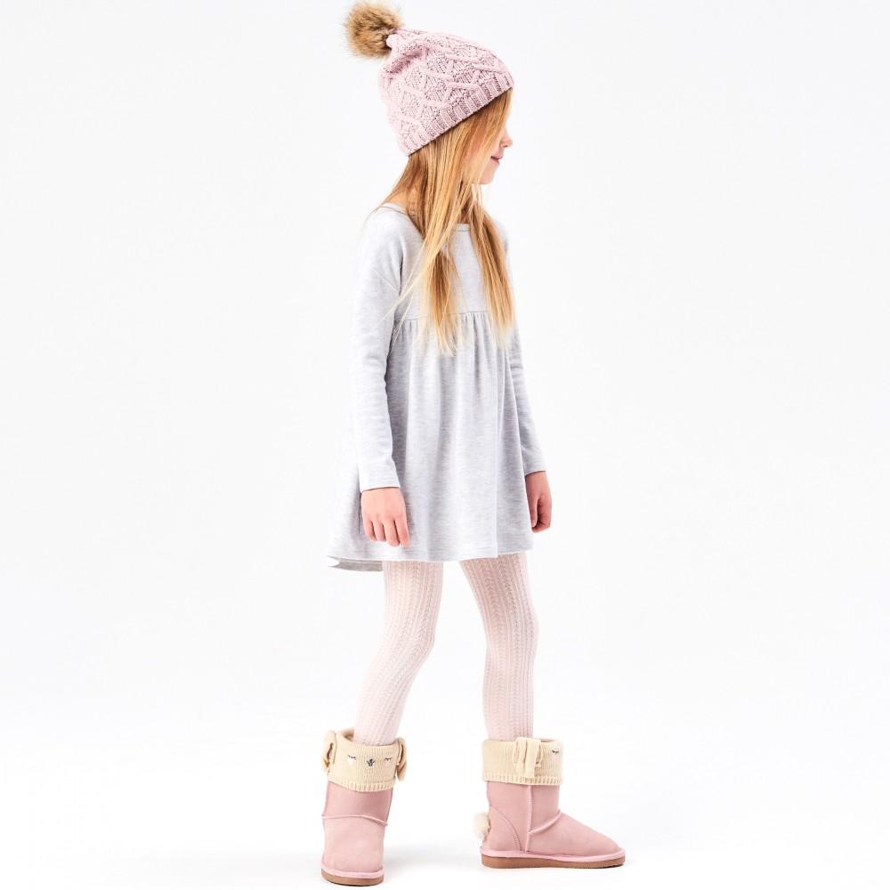 Reserved kids dress, light gray color