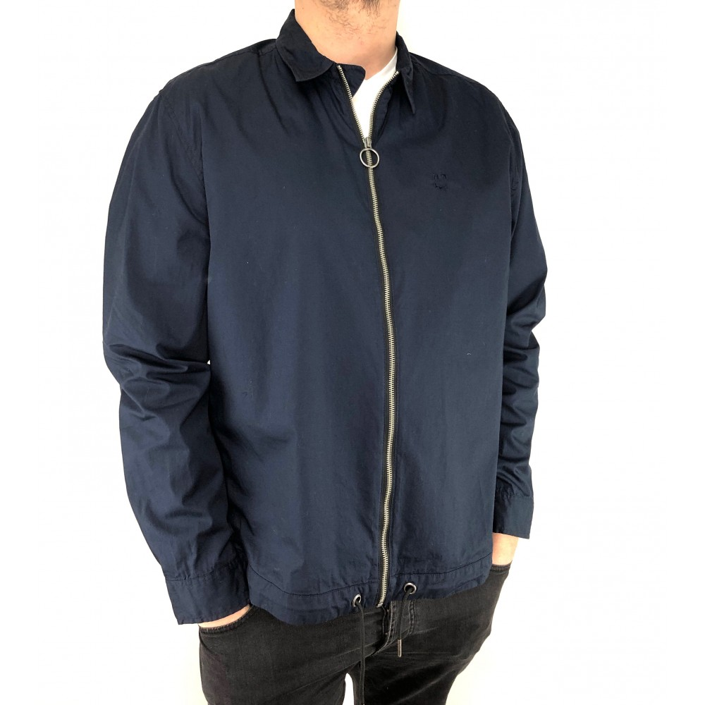 Reserved men's shirt, navy blue color with zipper