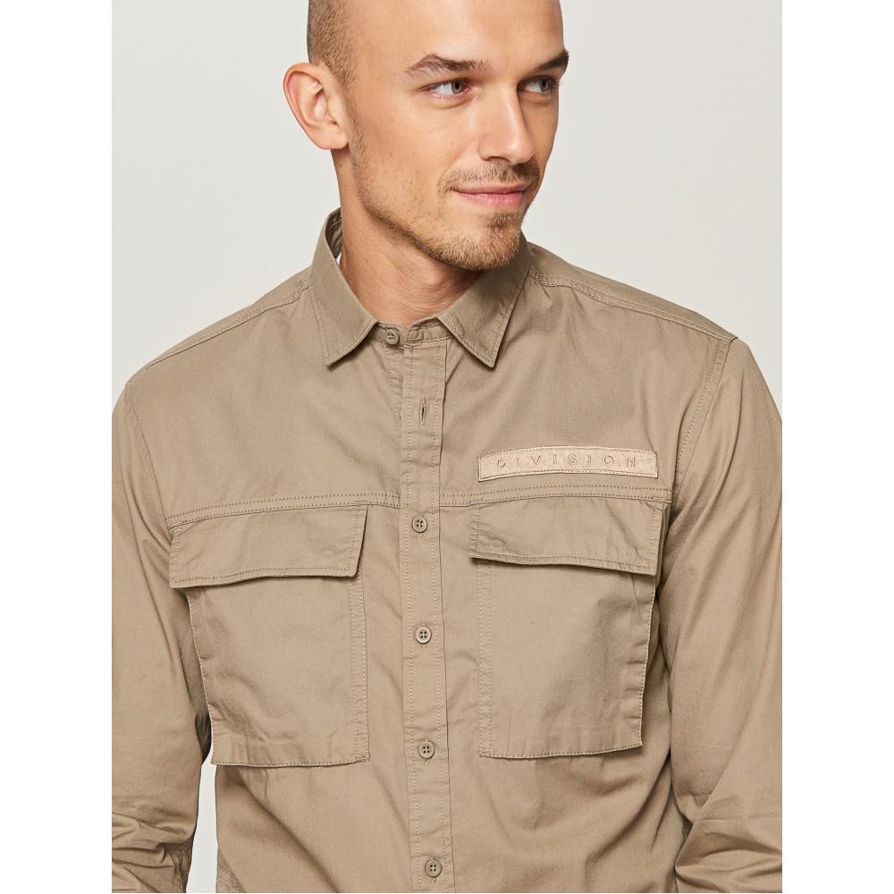 Reserved men's shirt khaki color