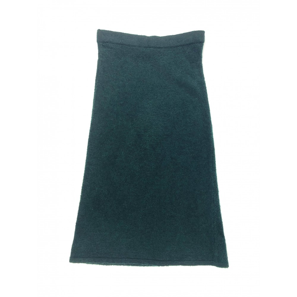 Concept Reserved women's pencil shaped skirt, dark green color