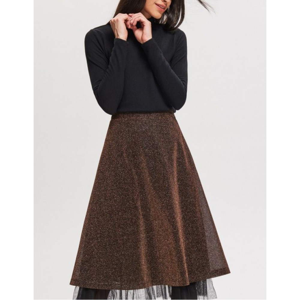 Reserved women's skirt, black and gold glitter color