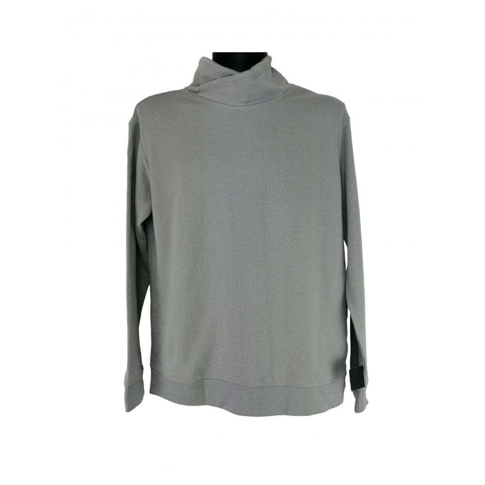 Reserved Men's Sweater / Jogging Top, Light Gray Color with Long Neck, Long Sleeves