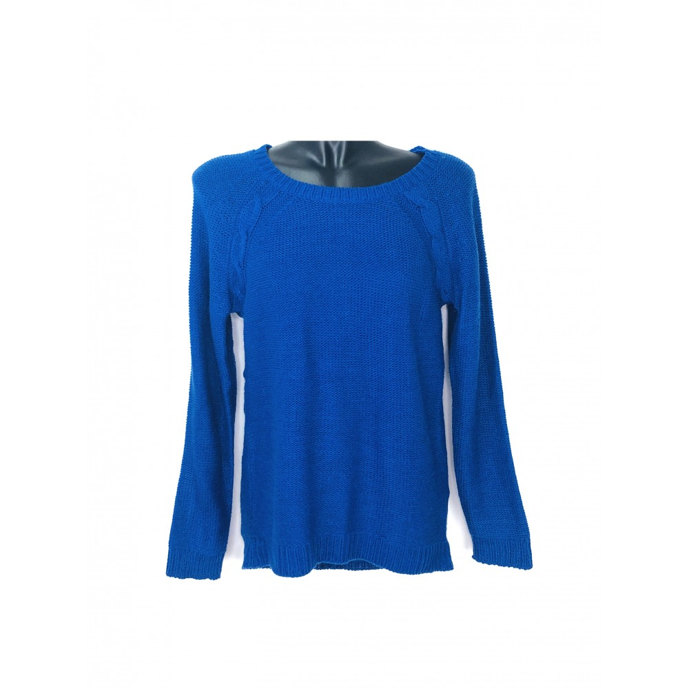 Reserved women's sweater, royal blue color with zipper at the back