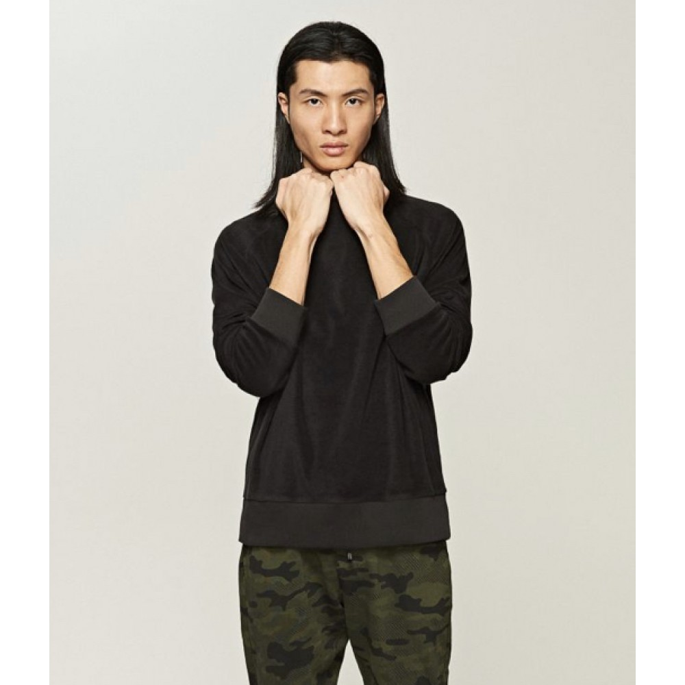 Reserved men's jogging sweater  with an extended neck