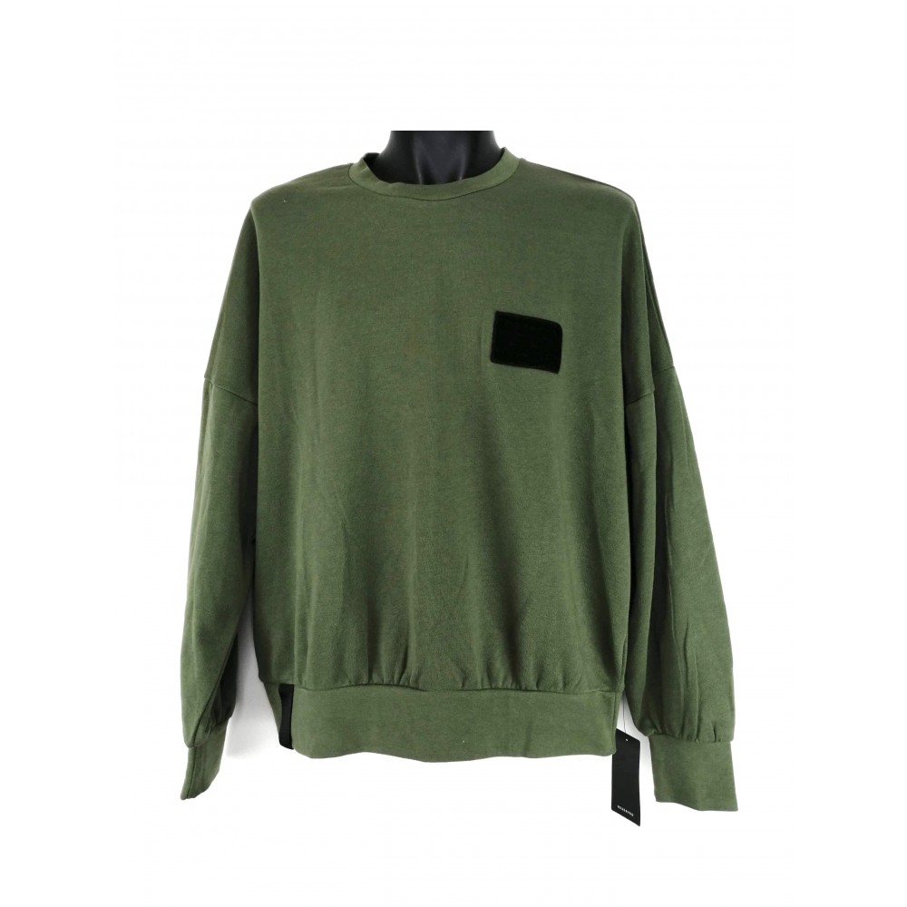 Reserved men's sweater / jogging top green color, long sleeves