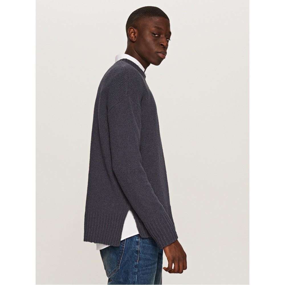Reserved men's sweater dark blue-gray color