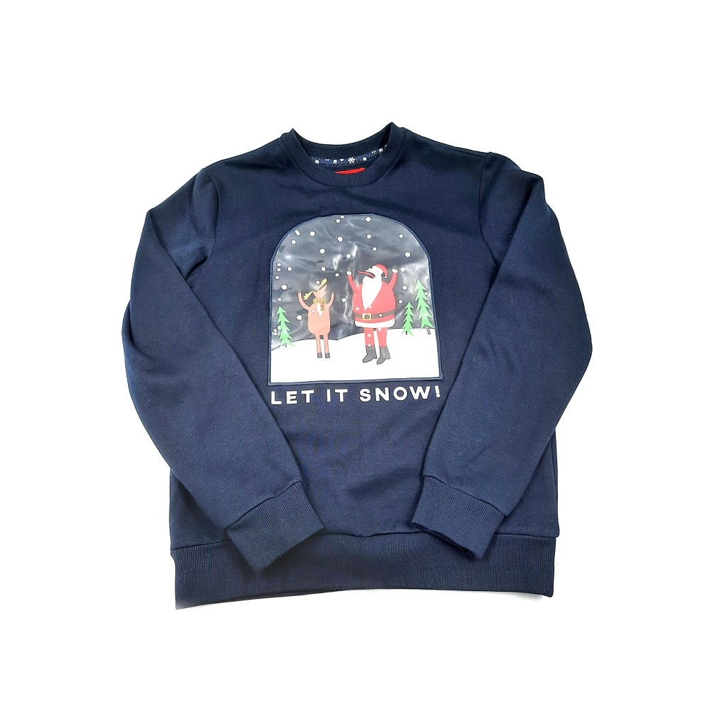 "Reserved men's sweater ""christmas"", navy blue color VH055-59X"