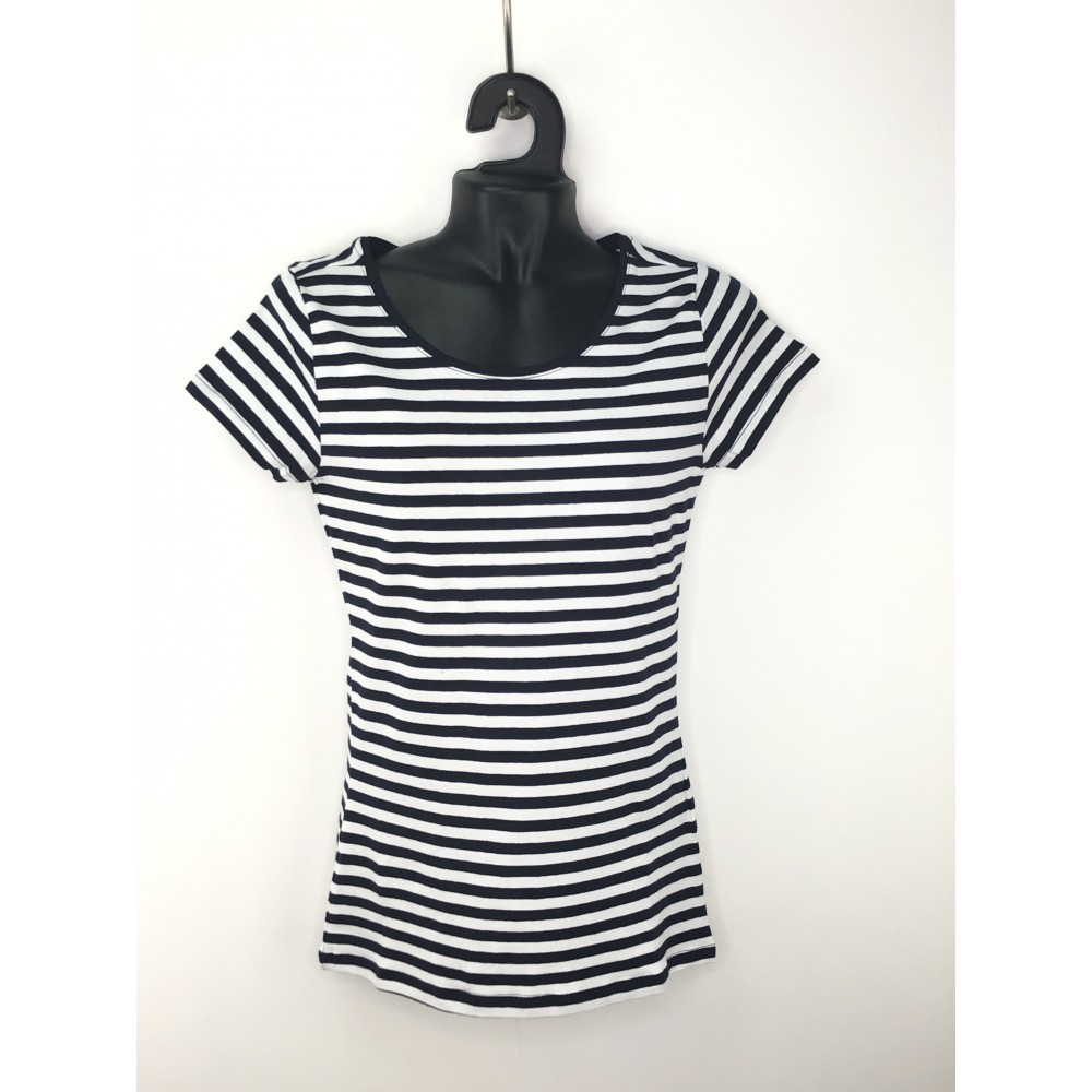 Reserved Women's T-Shirt, Striped, Navy Blue / White Color, Short Sleeve
