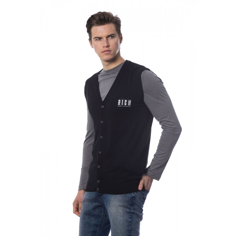 Rich men's sweater/vest, black color