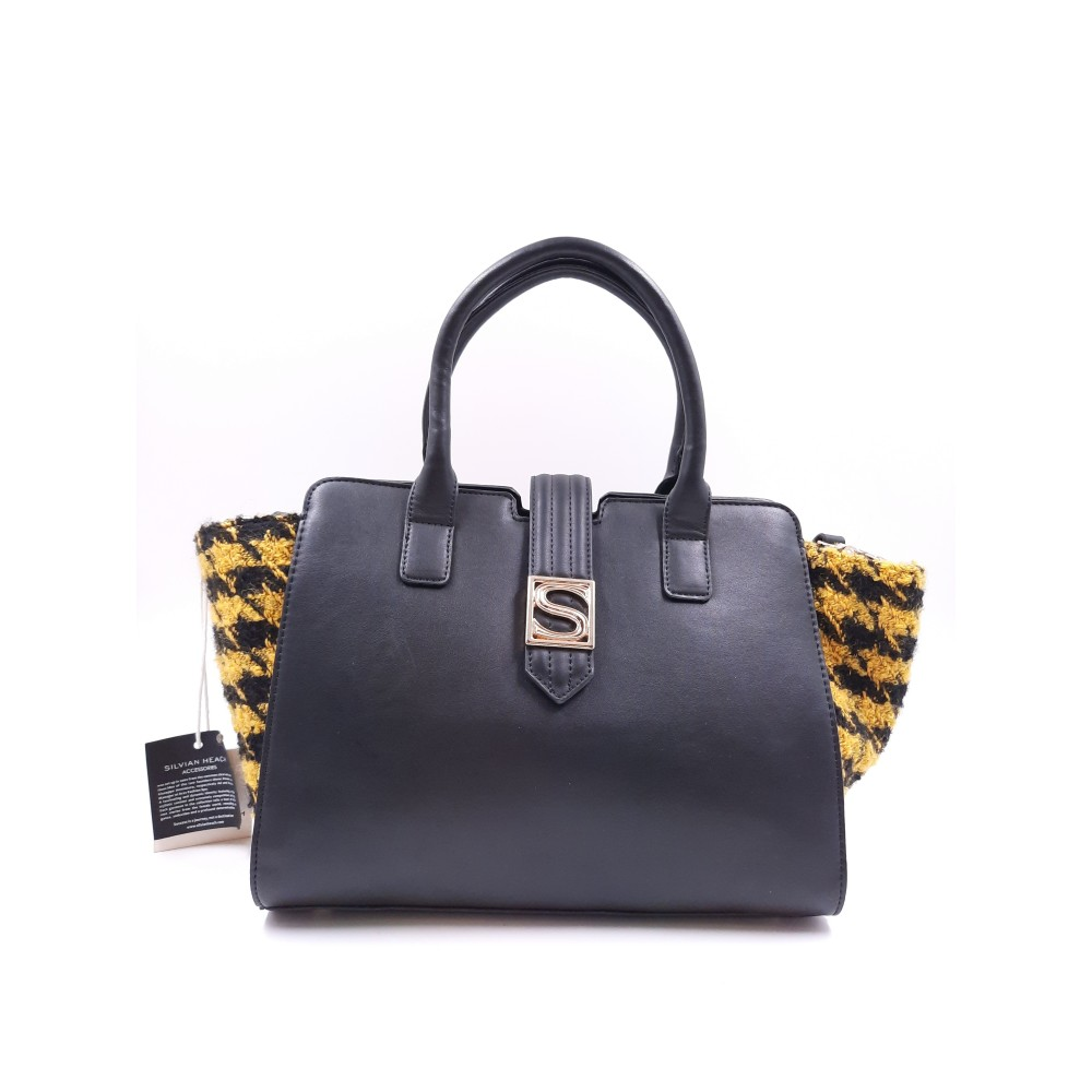 Silvian Heach Bag RCA19032BO BLACK/yellow color
