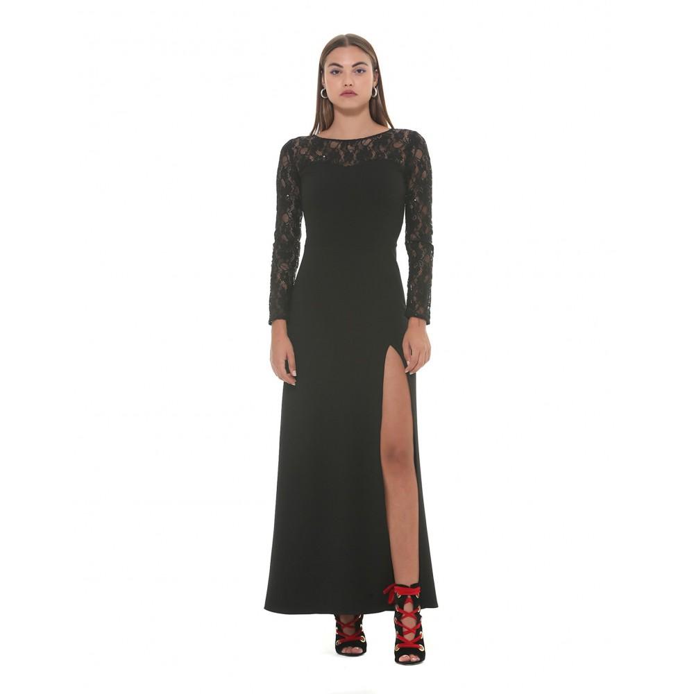 "Silvian Heach women's dress ""mokadem"" SHA19243VE black color"