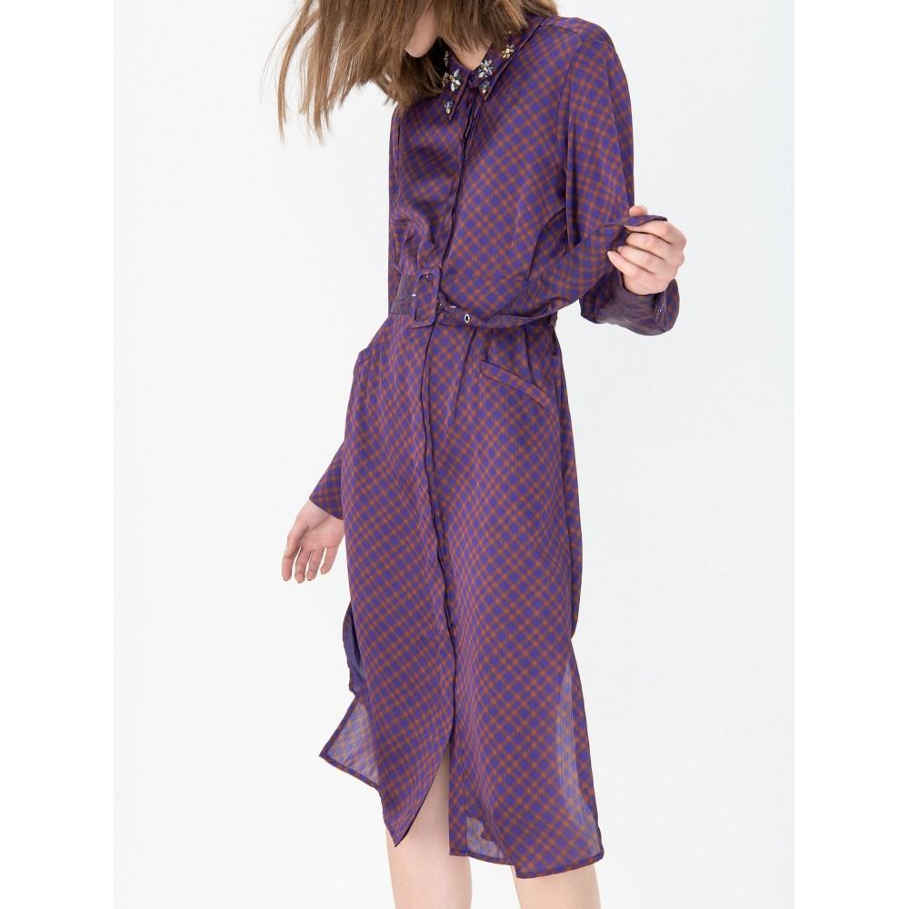 Silvian Heach women's dress PGA19460VE, violet/ter color
