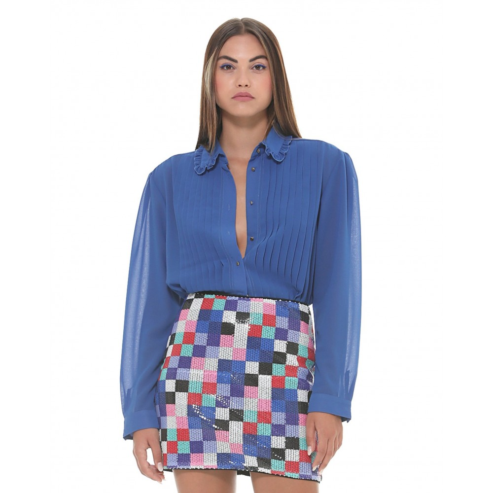Silvian Heach women's shirt SHA19187CA blue victoria