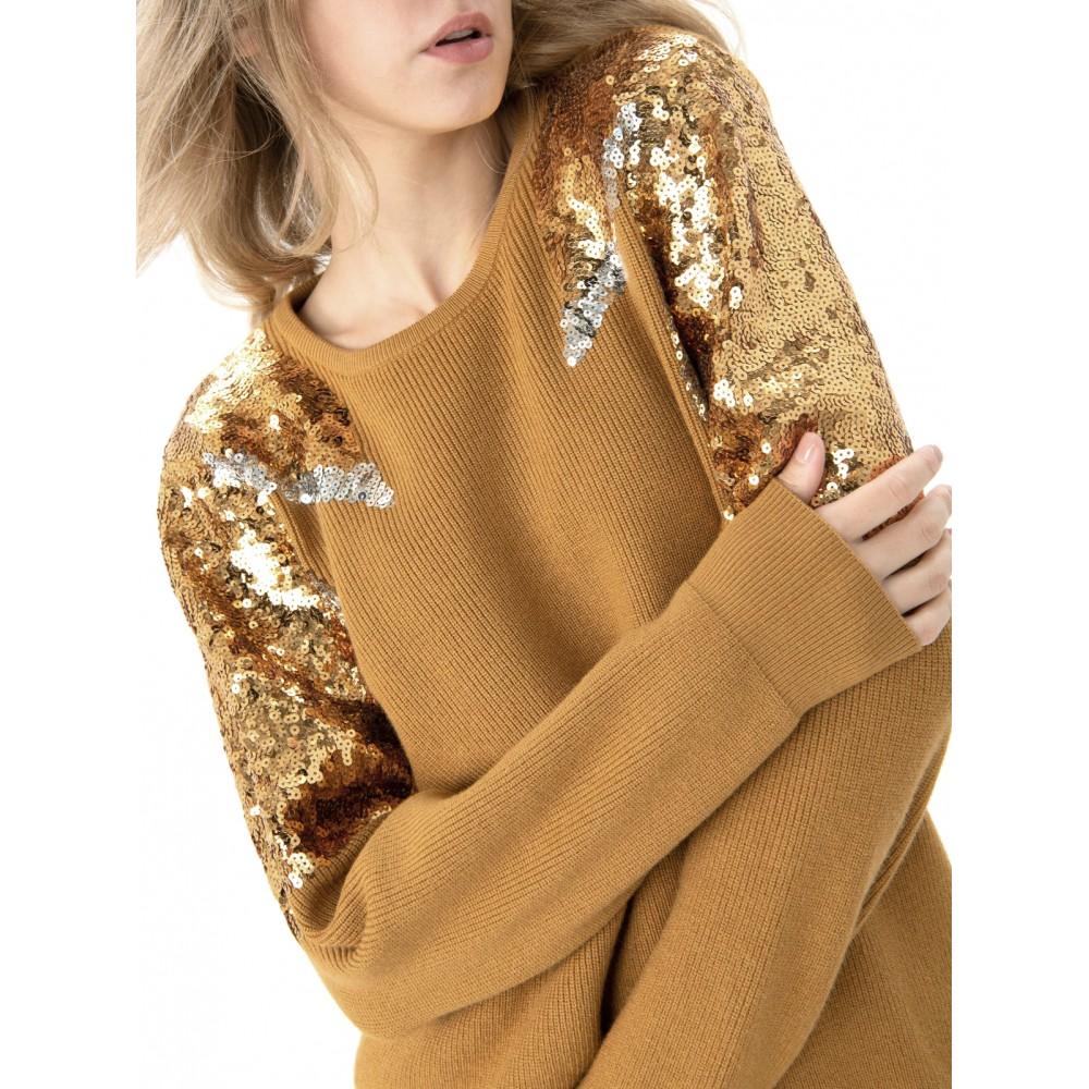 Silvian Heach women's sweater CVA19252MA MUSTARD COLOR
