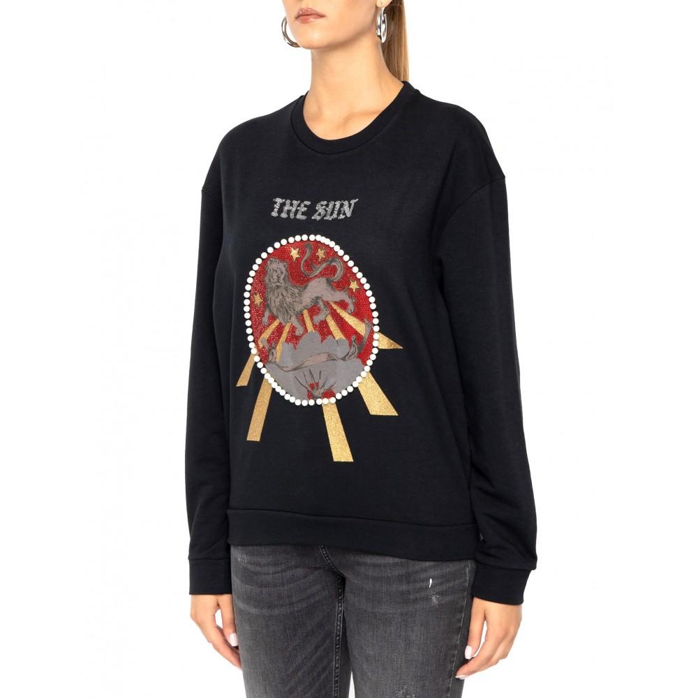 Silvian Heach women's sweater CVA19394FE black color