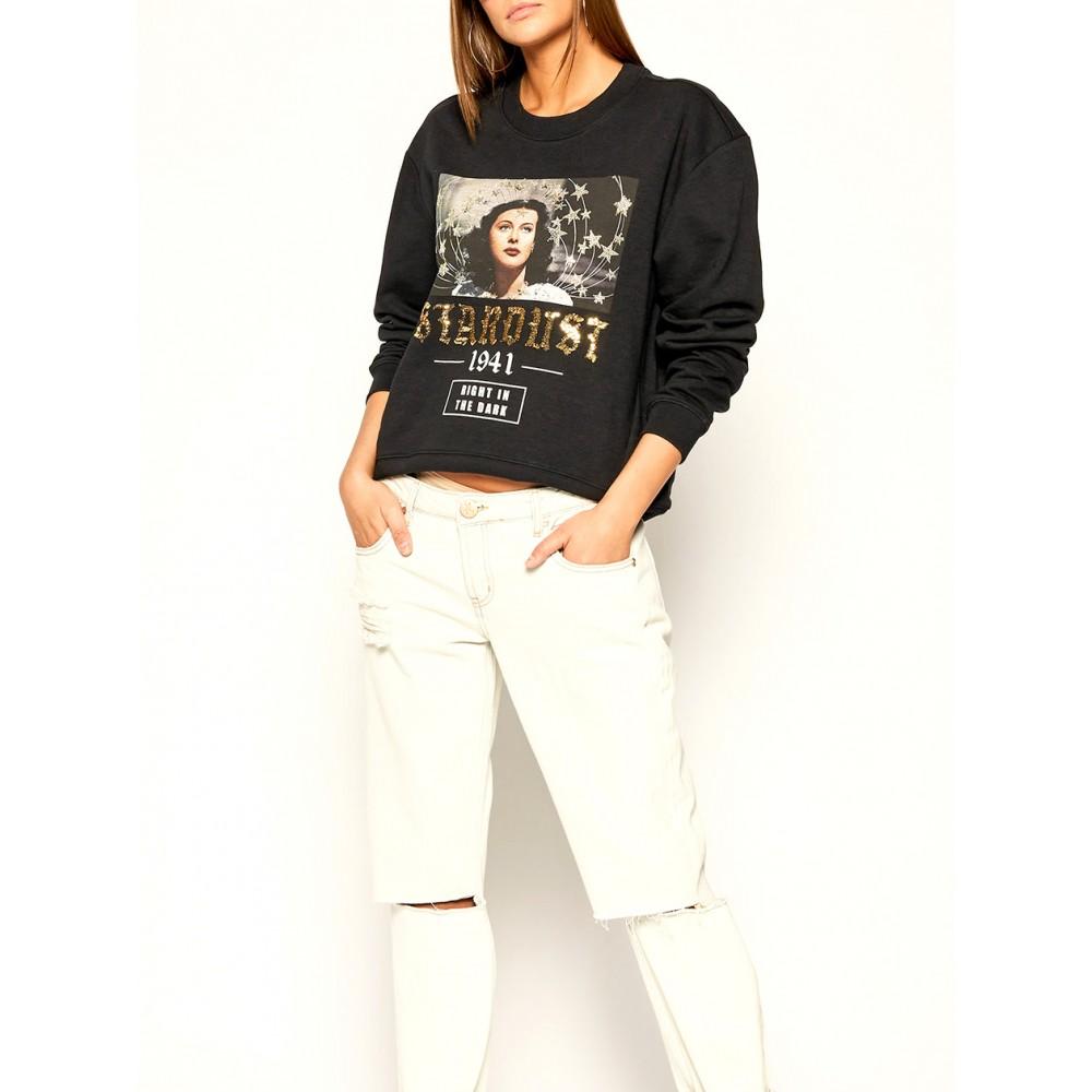 Silvian Heach women's sweater CVA19401FE black color