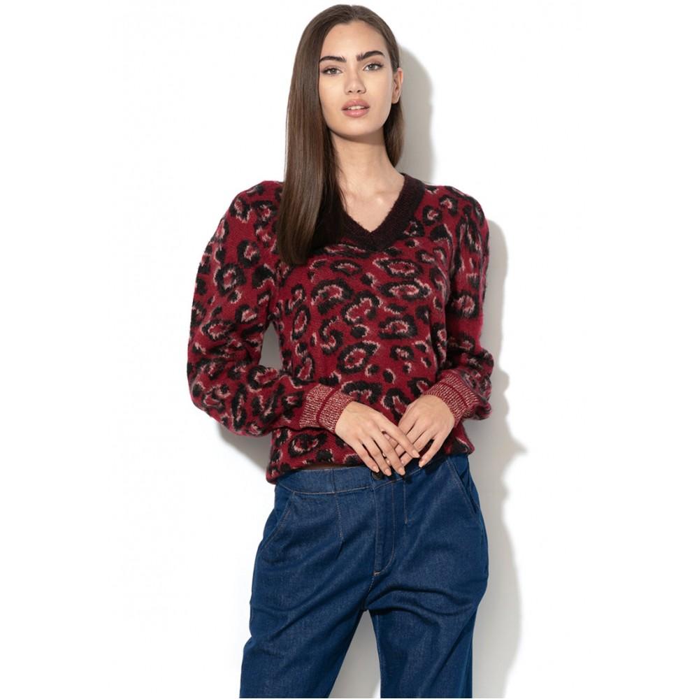 Silvian Heach women's sweater CVA19415MA BURGUNDY COLOR