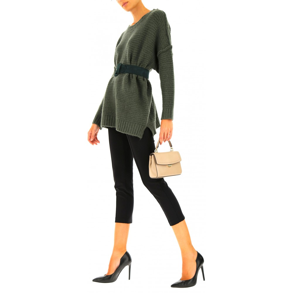 Silvian Heach women's sweater PGA19190MA MILITARY GREEN COLOR