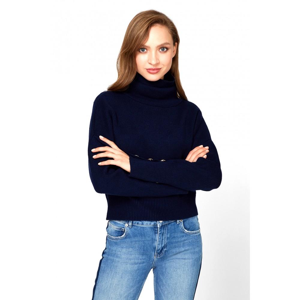 Silvian Heach women's sweater SPGA19223MA DARK BLUE COLOR