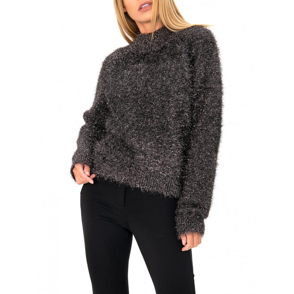 Silvian Heach women's sweater PGA19515MA BLACK COLOR