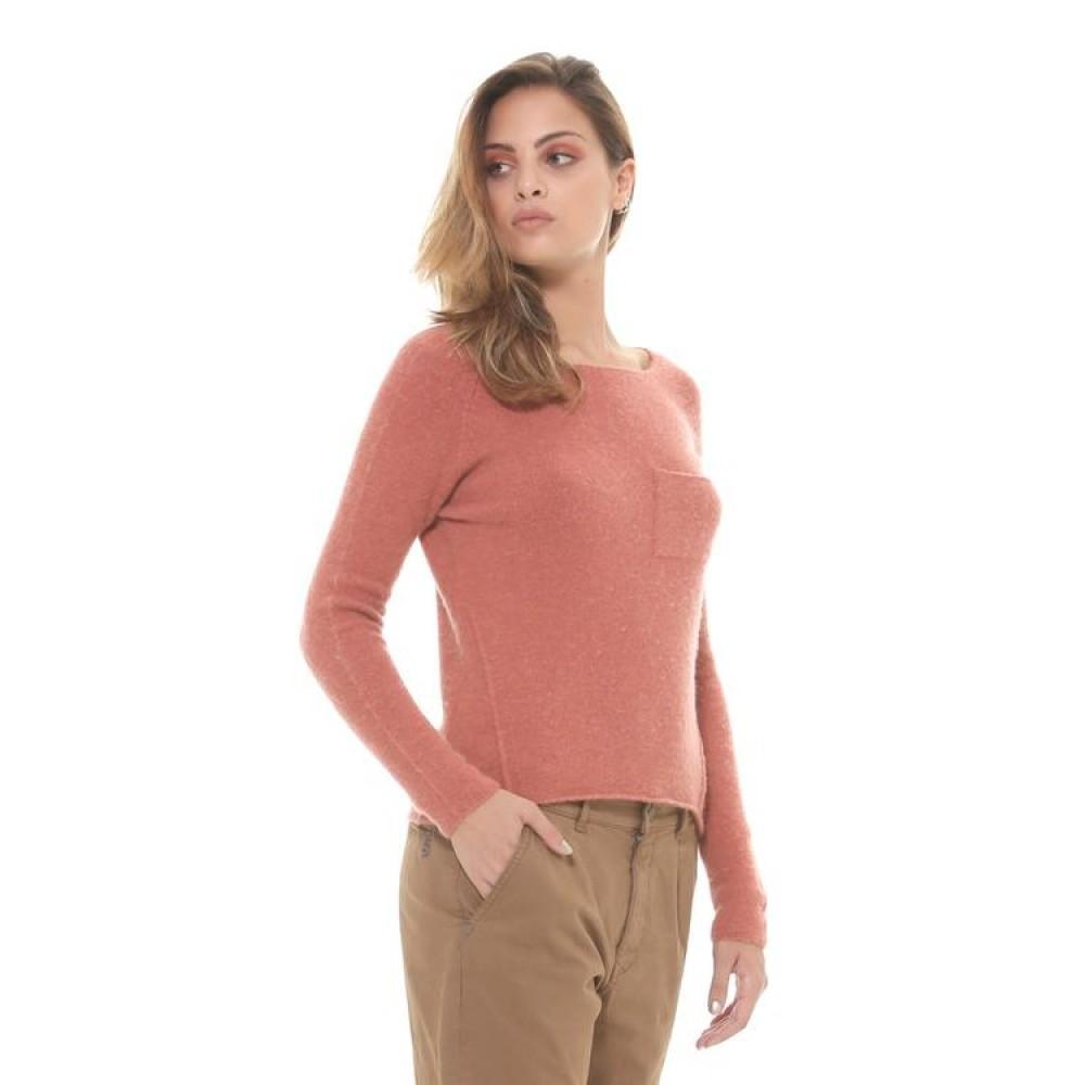 Silvian Heach women's sweater PGA19602MA DARK SALMON COLOR