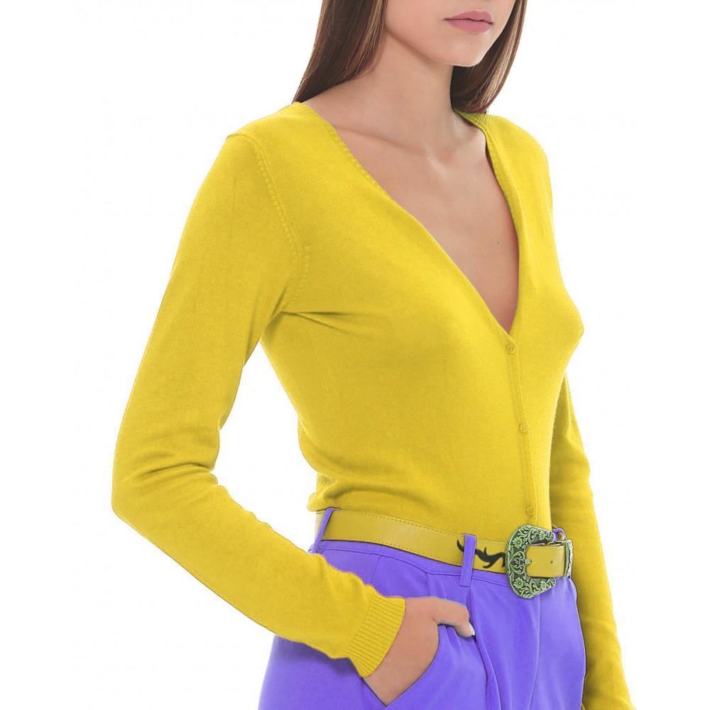 Silvian Heach women's sweater SHA19005CD YELLOW