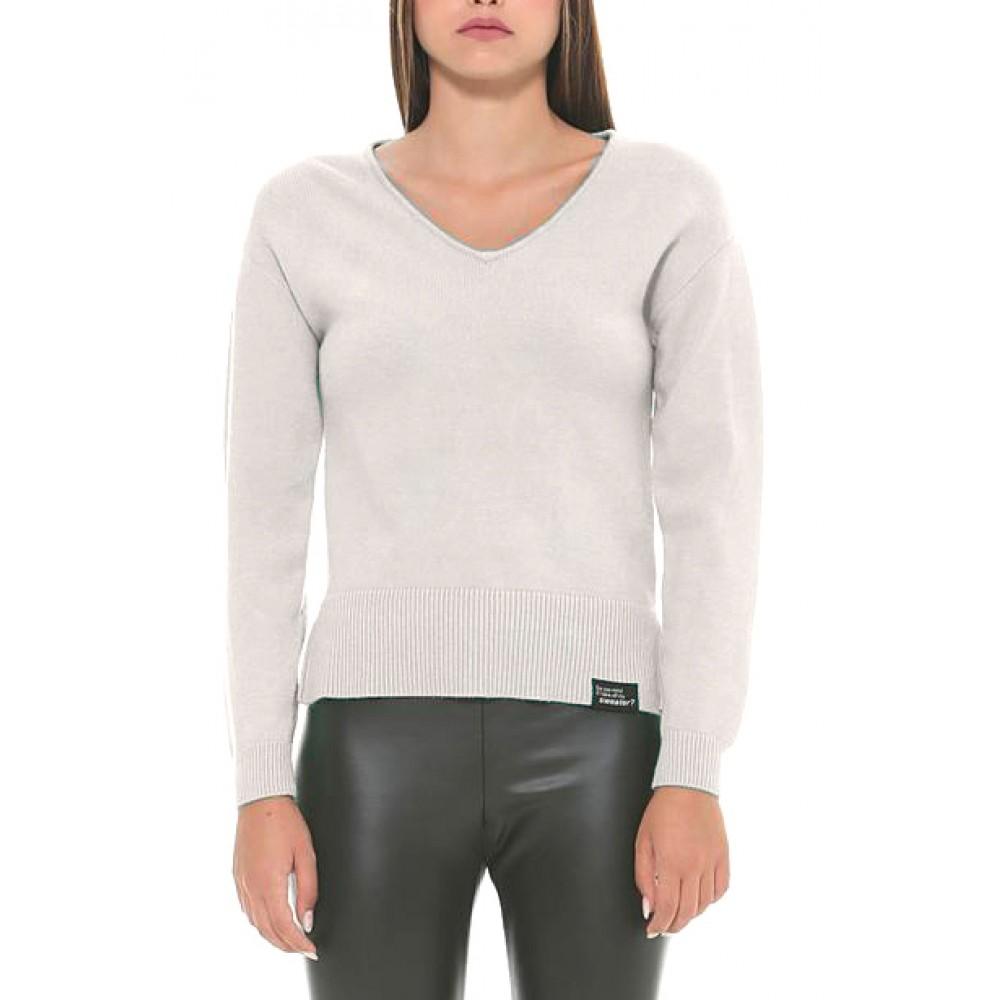 Silvian Heach women's sweater SHA19034MA SNOW WHITE