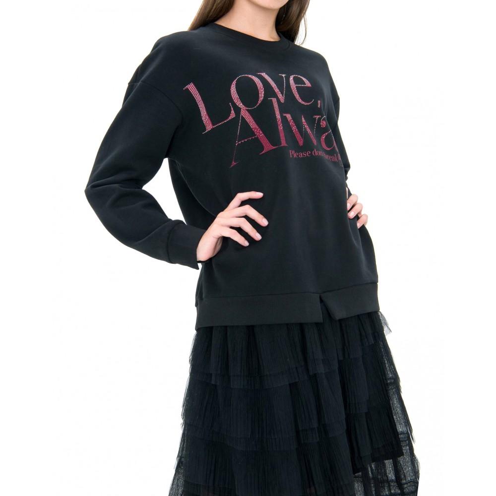 Silvian Heach women's sweater SHA19051FE BLACK