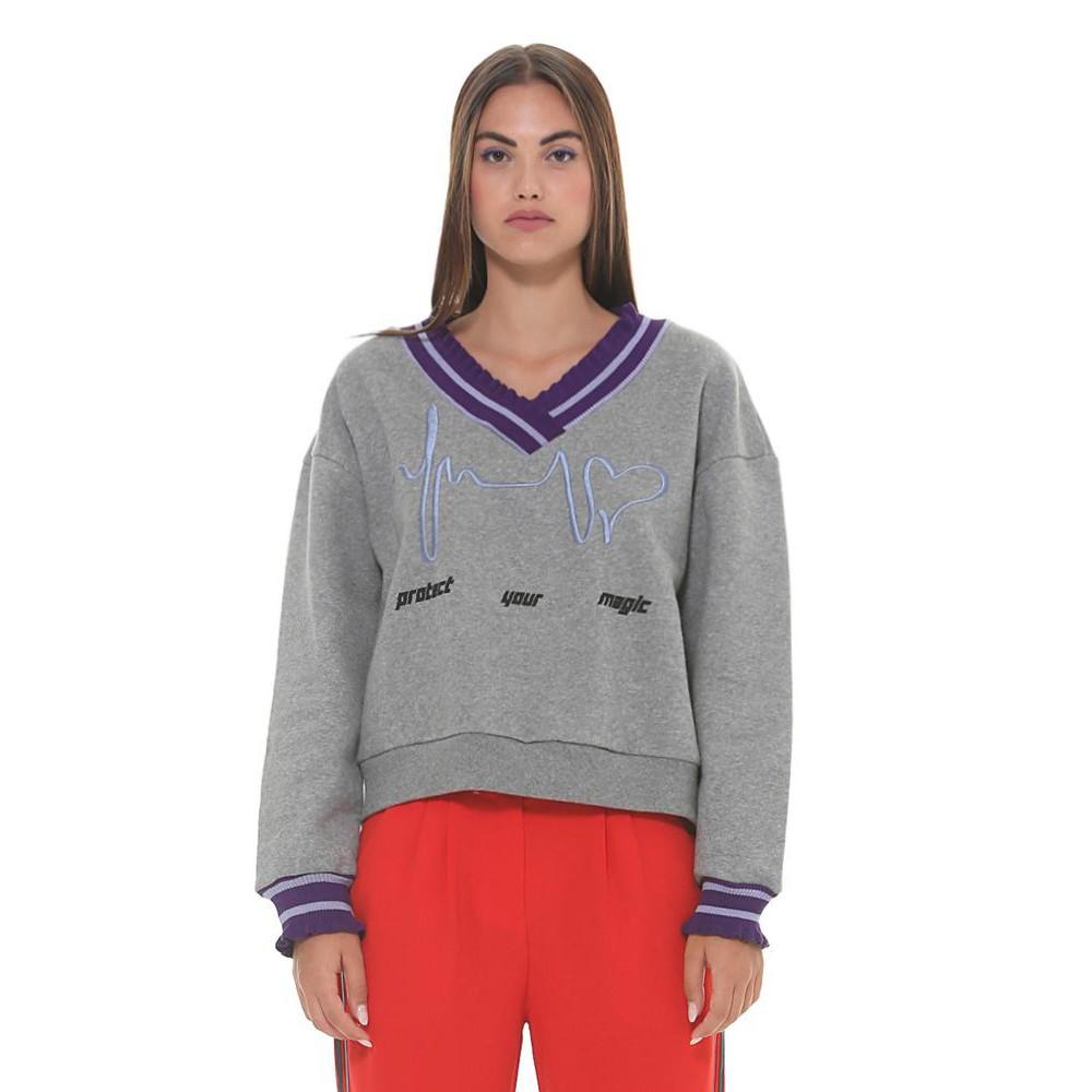 Silvian Heach women's sweater SHA19162FE GREY COLOR