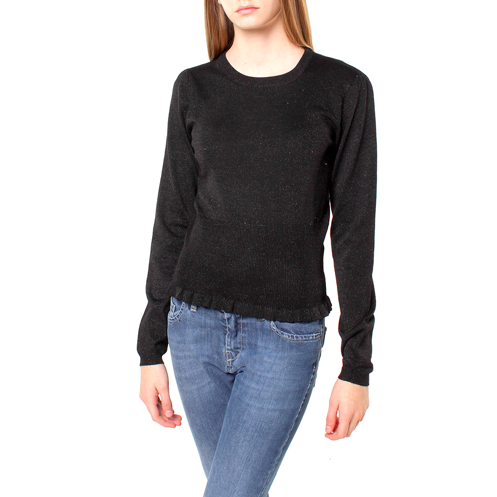 Silvian Heach women's sweater SHA19306MA BLACK COLOR