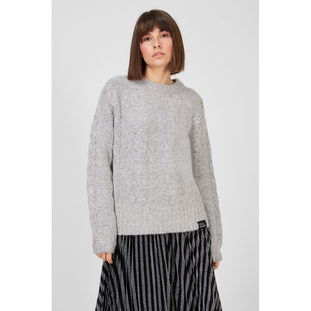 Silvian Heach women's sweater SHA19311MA LIGHT GREY