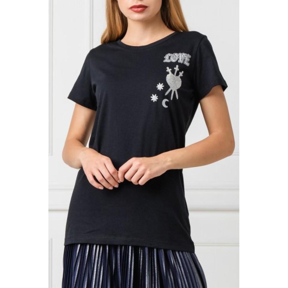 Silvian Heach women's t-shirt CVA19389TS black
