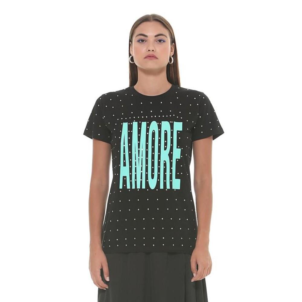 Silvian Heach women's t-shirt SHA19045TS black