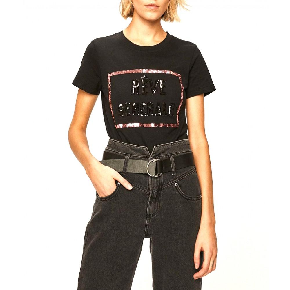 Silvian Heach women's t-shirt SHA19399TS black
